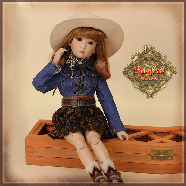 "ruby red galleria 12"" cowgirl wc0054A"