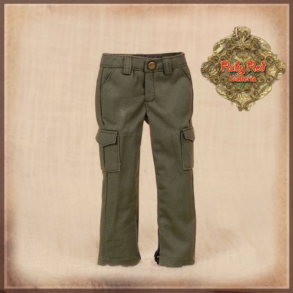 """ruby red galleria 12"""" army green trousers wc0056A"""