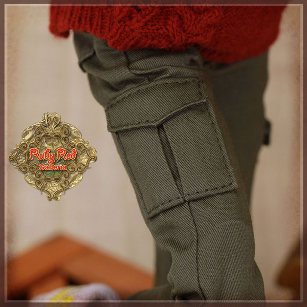 "ruby red galleria 12"" army green trousers wc0056A"