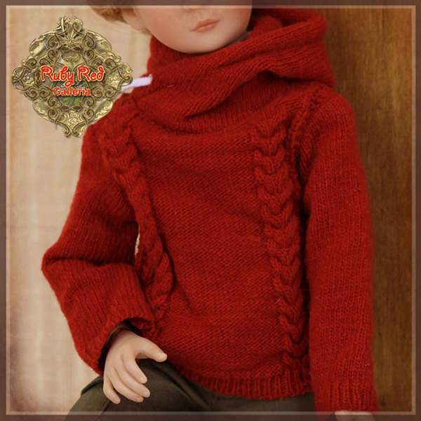 "ruby red galleria 12"" red sweater wc0058A"