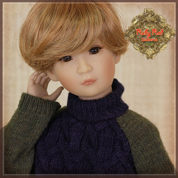 """ruby red galleria 12"""" green blue sweater wc0059C"""