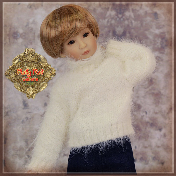 "ruby red galleria 12"" white sweater wc0060A"