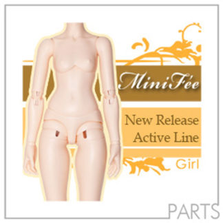 fairyland minifee parts active line girl body