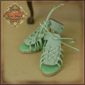 ruby red green sandals yosd