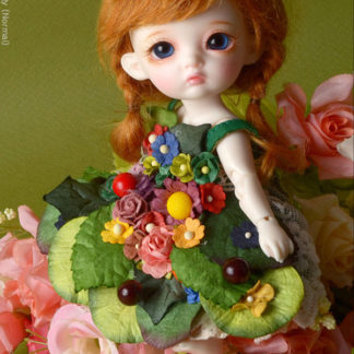 doll more fairy flowers green dress