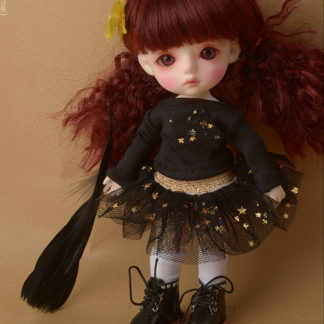 doll more bebe fany twinkle skirt black