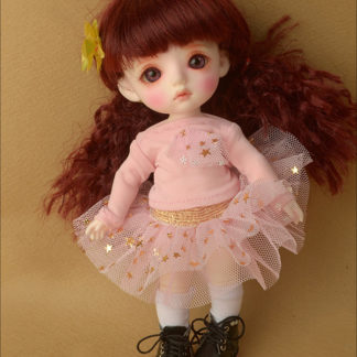 doll more bebe fany twinkle skirt pink