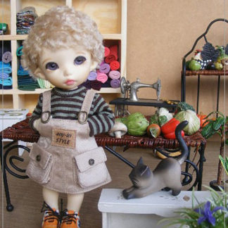 anydoll style small pukifee overall beige