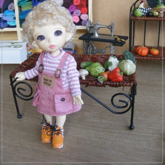 anydoll style small pukifee overall pink