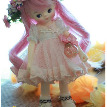 princess small pink ball dress
