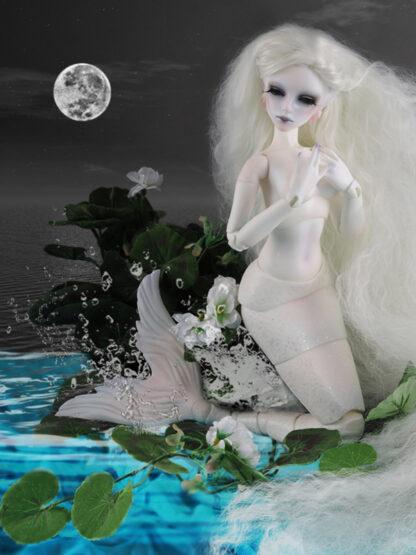 dollmore sea glass mermaid white tara