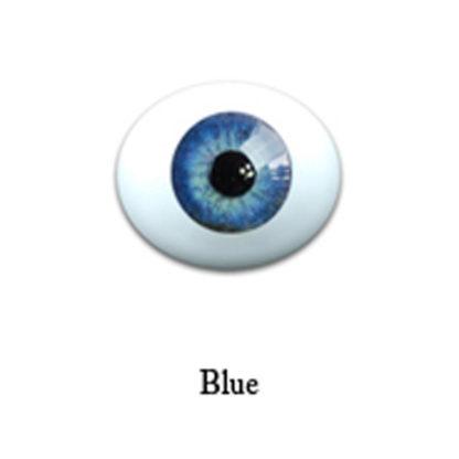 glib oval glass 6mm blue