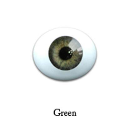 glib oval glass 6mm green