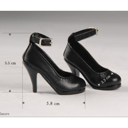 doll more msd kid basic heels black