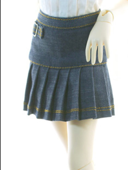 doll more msd kid buckle jean skirt