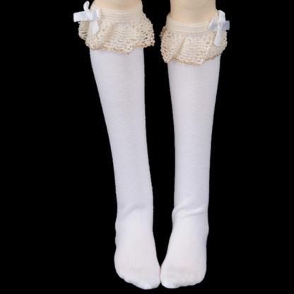 doll more sd white lacy girl socks