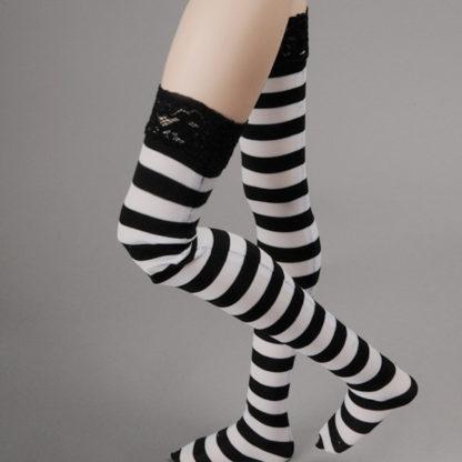 doll more sd rropia black white striped stockings