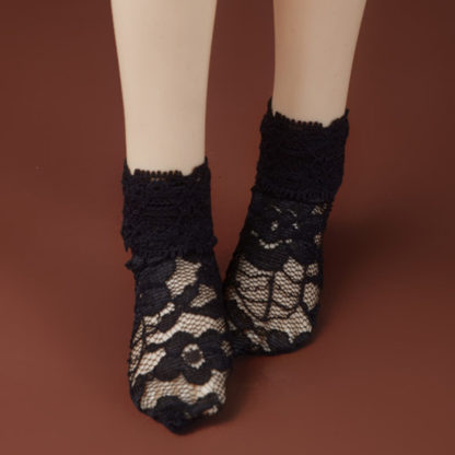 dollmore msd all lace black socks