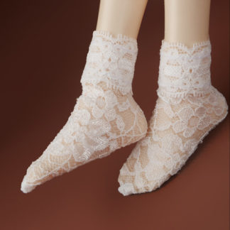 dollmore msd all lace white socks