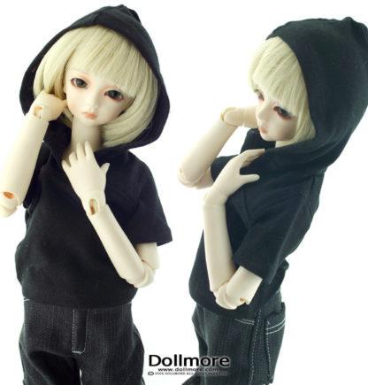 dollmore ,msd half sleeve hood black