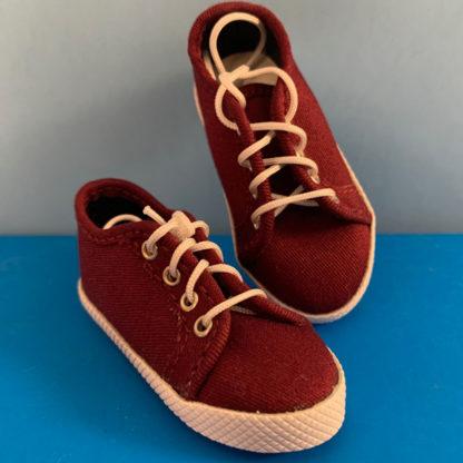 shoe shack msd minifee sneaks burgundy