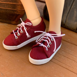 shoe shack msd minifee sneaks burgundy