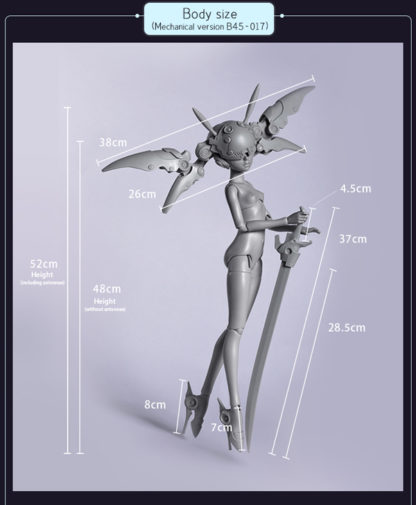 doll zone msd body b-17 mechanical