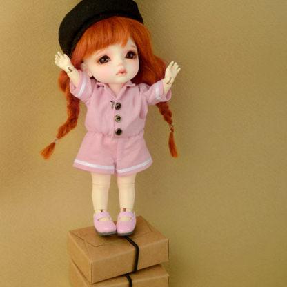 dollmore bebe sailor overalls pink