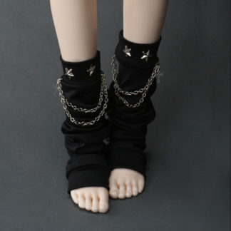 dollmore chain star leg warmers black msd