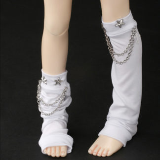 dollmore chain star leg warmers white msd