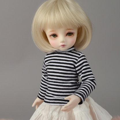 dollmore dear doll stripe t black