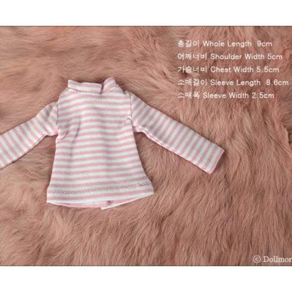 dollmore dear doll stripe t pink