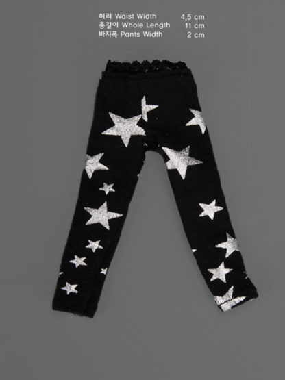 dollmore dear doll silver star leggings