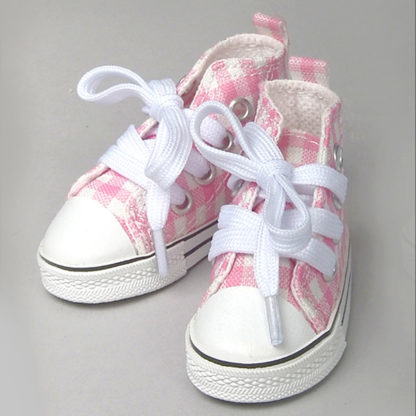 dollmore msd pink check sneakers