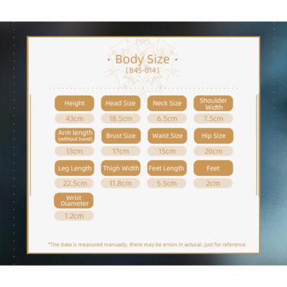 doll zone msd ray b45-14 body