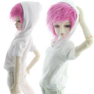 dollmore msd half sleeve_hood tshirt white