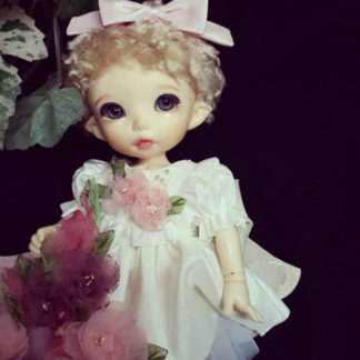 anydoll style small pukifee ivory flower dress