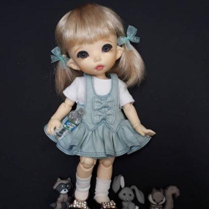 anydoll style small pukifee frill mint dress