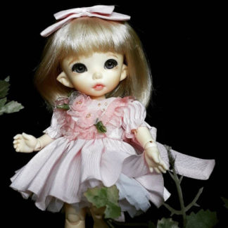 anydoll style small pukifee pink flower dress