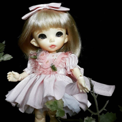 anydoll style small pukifee pink flower dress