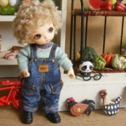 anydoll style xsmal pukipuki overalls long