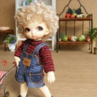 anydoll style xsmal pukipuki overalls short