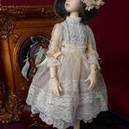dollmore msd ns245 ivory lace dress
