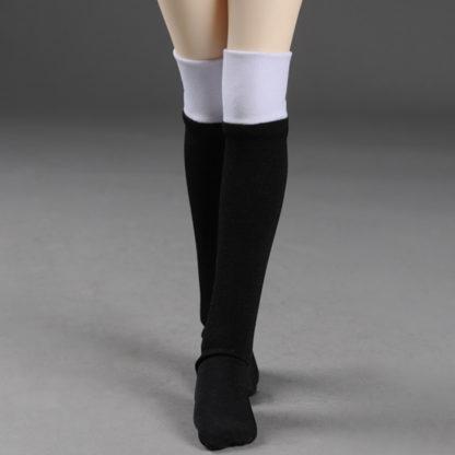 dollmore msd two hue black white stockings