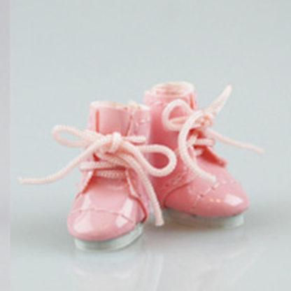glib 20mm pink patent lace up boots