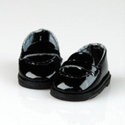 glib 45mm black patent loafer