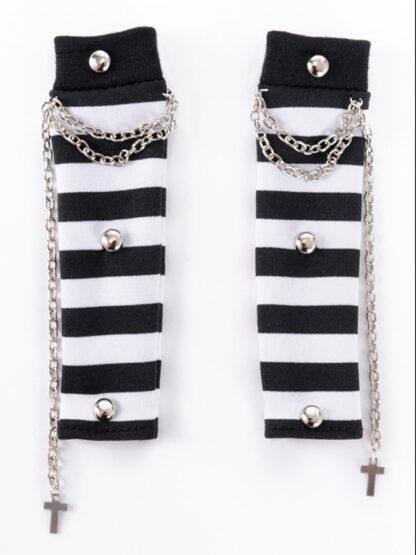 dollmore msd cross buckle stripe arm warmers