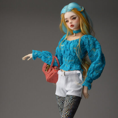 dollmore sd model peasant blouse blue