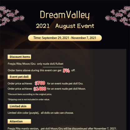 dream valley october 2021 event